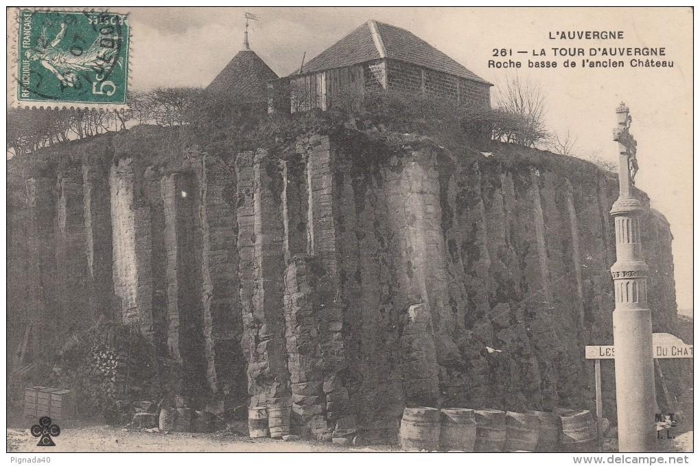 Cp , 63 , LA TOUR D'AUVERGNE , Roche Basse De L'ancien Château - France