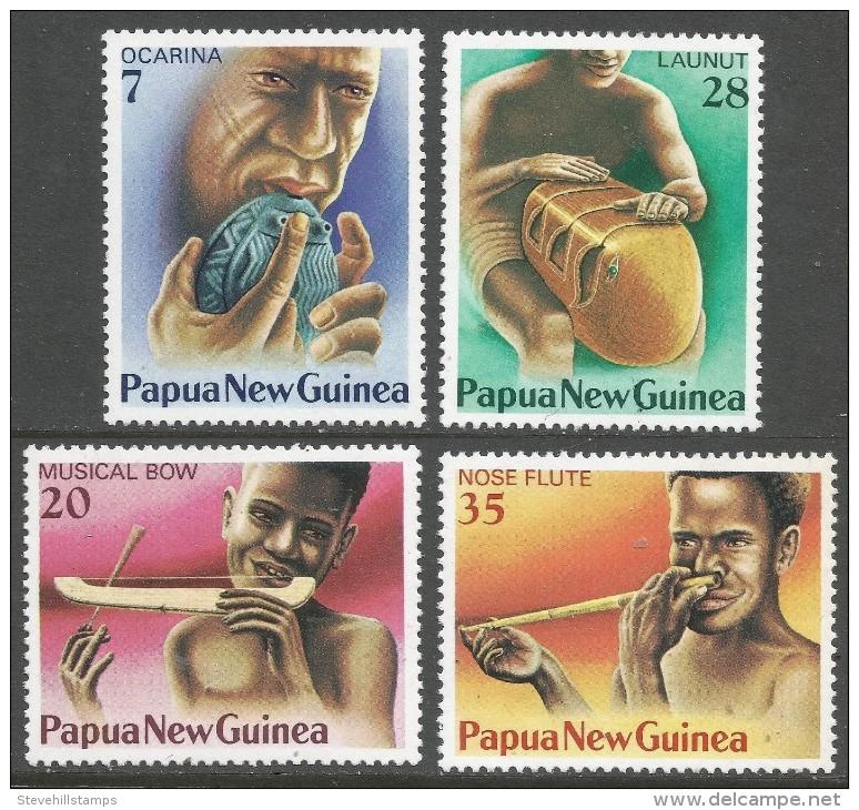 Papua New Guinea. 1979 Musical Instruments. MNH Complete Set. SG 359-362 - Papua New Guinea