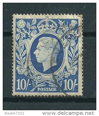 1941 England 10'/ Sh. Definitive Used/gebruikt/oblitere - 1902-1951 (Koningen)