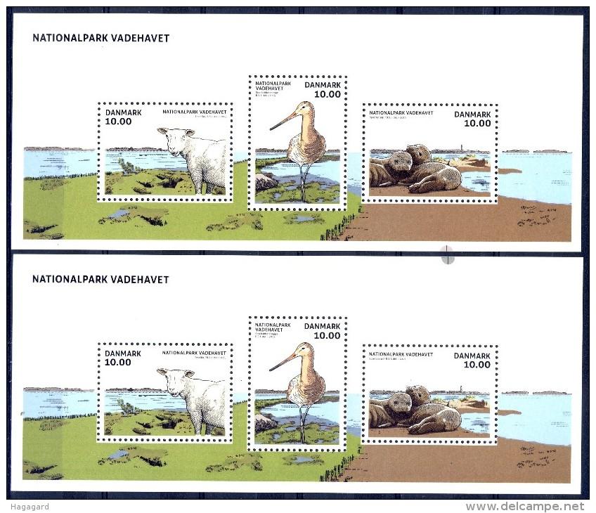 ##Denmark 2015. Fauna. 2 Blocs. MNH(**) - Blocks & Sheetlets