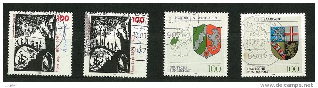 GERMANIA - GERMANY -  20 FRANCOBOLLI USATI ANNI VARI - ALCUNI DOPPI - CANCELLED STAMPS - - Timbres