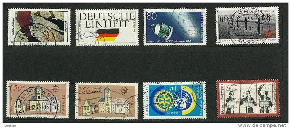 GERMANIA - GERMANY -  20 FRANCOBOLLI USATI ANNI VARI - MOLTI  DOPPI - RIPETUTI  - CANCELLED STAMPS - - Timbres