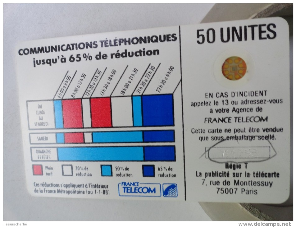 RARE : CORDONS BLANC TÉLÉCARTE 50U SC4OB S/E NUMÉROTATION MÉLANGÉES  NR 711756 - Variëteiten