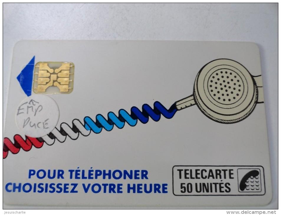 RARE : CORDONS BLANC TÉLÉCARTE 50U SC4OB S/E EMPREINTE SOUS LA FLÈCHE  NR 712095 - Variëteiten