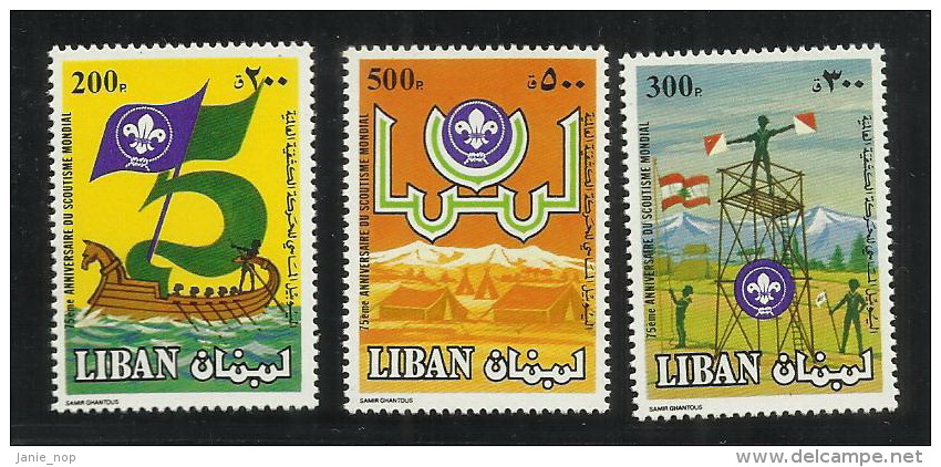 Lebanon 1983 75th Anniversary Of Scouting Set MNH - Liban