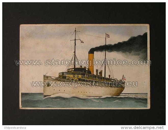 Brod 2 Ship Vapore Dampfer Kumanovo Dubrovacka Parobrodska Plovidba Ed S Markovic Zagreb - Piroscafi
