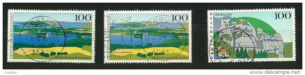 GERMANIA - GERMANY -  15 FRANCOBOLLI USATI ANNI VARI -  ALCUNI RIPETUTI  - CANCELLED STAMPS - - Timbres