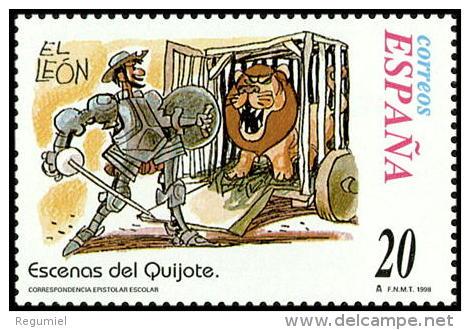 España 3575 ** Correspondencia. Quijote.1998 - 1991-00 Nuevos & Fijasellos