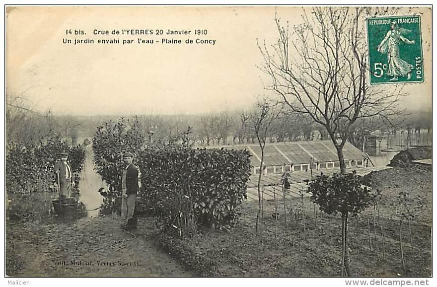 Depts Div.- Essonne - Y615 -  Crue De L Yerre 20 Janvier 1910 - Plaine De Concy - Un Jardin Envahi Par L 'eau - - France