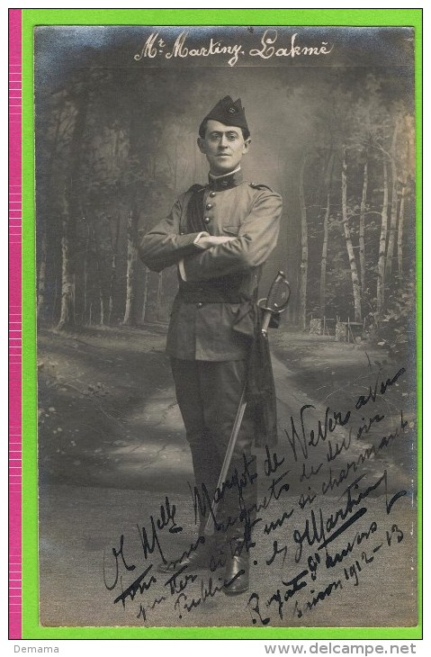 E Martiny Baryton Opéra Comique, In 'Lakmé' Théatre Royal D´Anvers 1912-1913  Autographe - Autogramme & Autographen