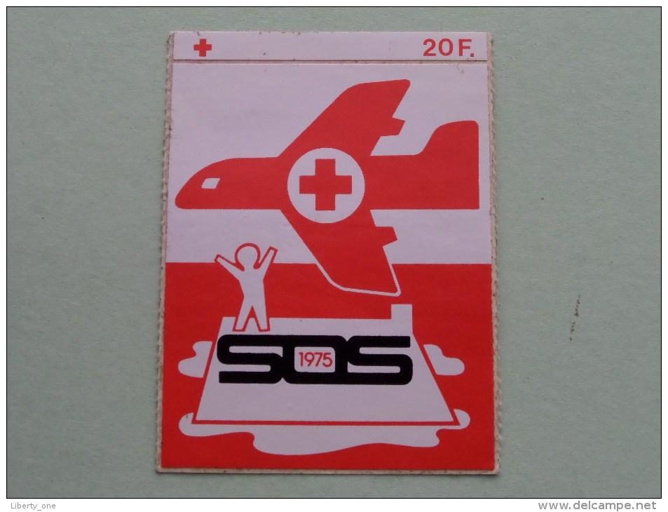 1975 Rode Kruis ( Zie Foto Voor Details ) Zelfklever Sticker Autocollant ! - Publicidad