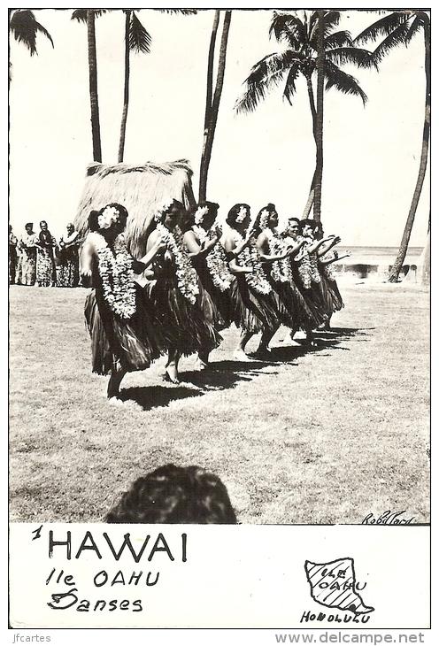 Etr - Hawaï - Ile OAHU - Danses - Semi Moderne Gd Format - Oahu