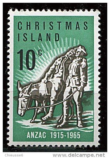 (cl 21 - P11) Christmas ** N° 21 (ref. Michel Au Dos) - Cinquant. De L'arrivée Des Anzac (Monument Du Souvenir) - - Christmas Island