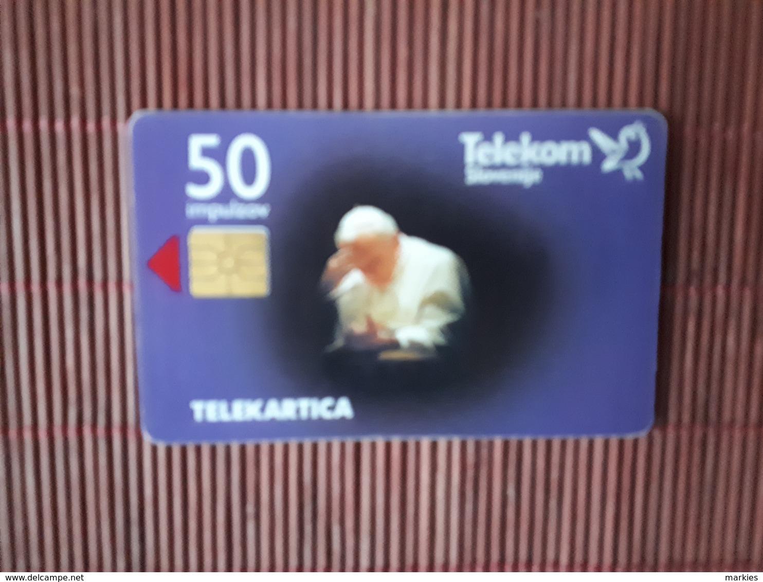 Phonecard Pope Used 2 Scans - Slowenien