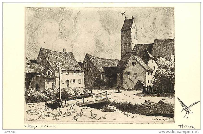 Dept Div -haut  Rhin -ref Z 578- Dessin- Illustrateur Hansi -  Carte Bon Etat - - France