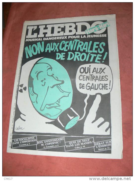 CHARLIE HEBDO 1981  N° 569   COUVERTURE  ECOLOGIE   /   CABU /  WOLINSKI / SINE /  REISER / GEBE ETC ... - Magazines Et Périodiques