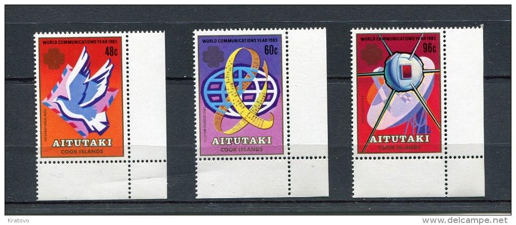 AITUTAKI 1983 MI # 496 - 498 WORLD COMMUNICATIONS YEAR  MNH - Aitutaki