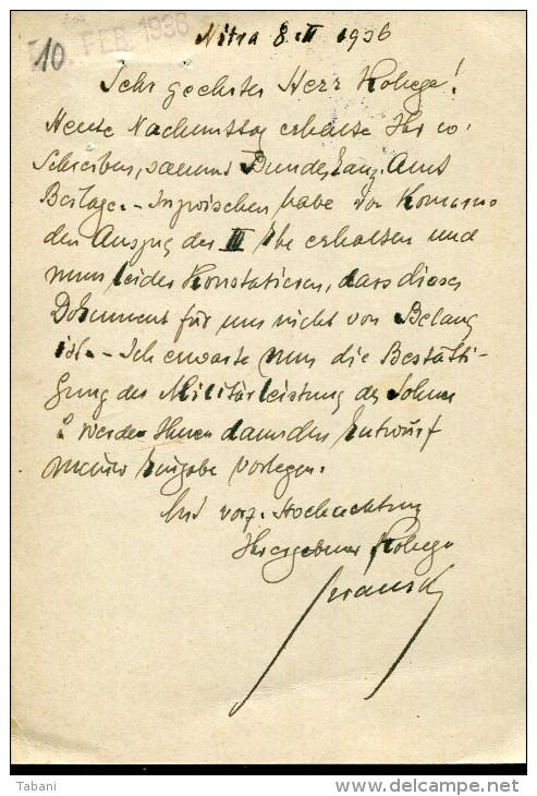 CZECHOSLOVAKIA 1936 ILLUSTRATED POSTAL STATIONARY CARD ....TATRY - Briefe U. Dokumente