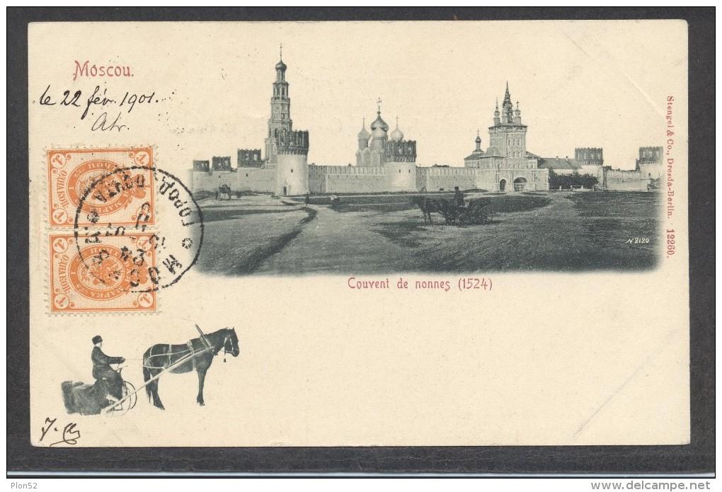 8256-MOSCOU-COUVENT DE NONNES-1901-ANIMATION-F P - Russia