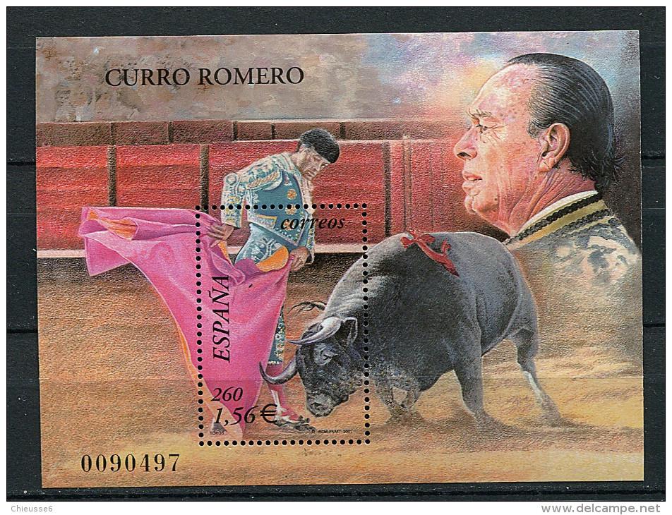 (cl 21 - P36) Espagne ** Bloc N° 98 (ref. Michel Au Dos) - Tauromachie. Le Matador Curro Romero  - - Blokken & Velletjes