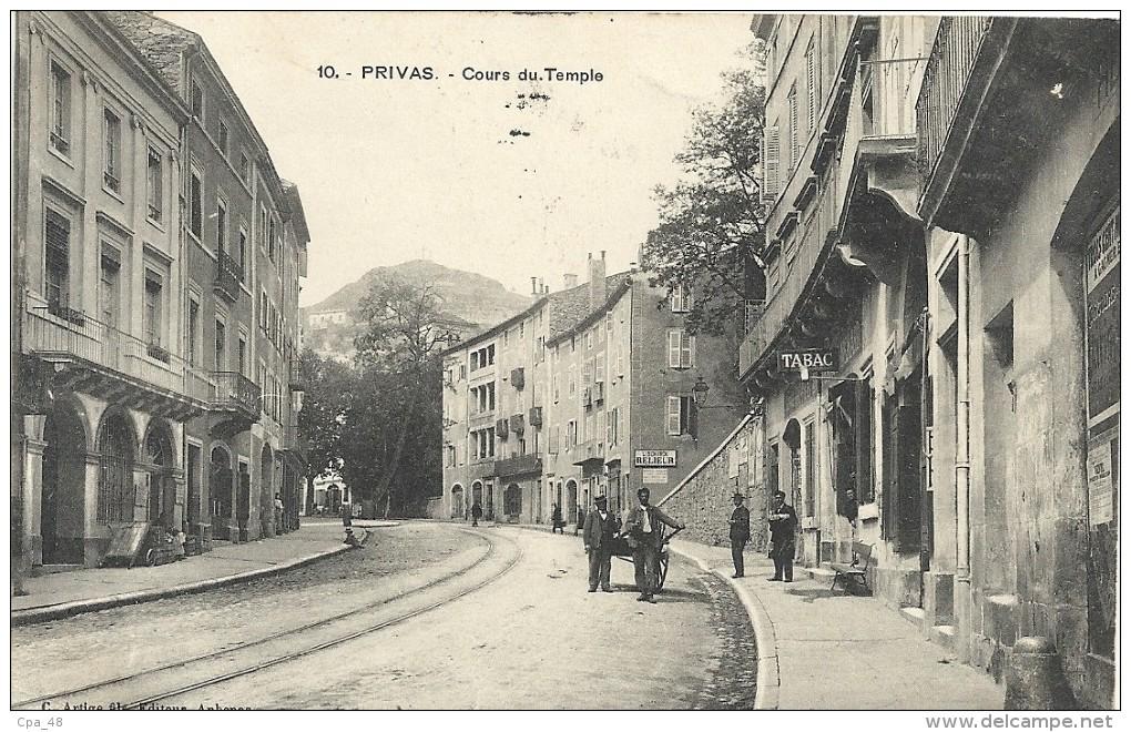 Ardèche : Privas, Cours Du Temple, Animée - Privas