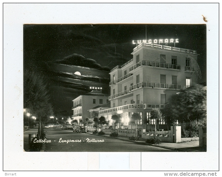 CATTOLICA,lungomare,notturno-1957-Auto-CAR-!!!!! - Rimini