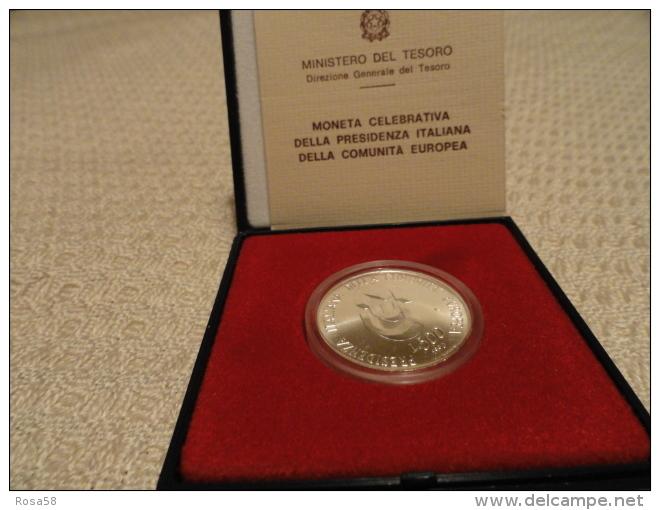 1990 Moneta Celebrativa Presidenza Italiana Comunità Europea L.500 ARGENTO - Monnaies