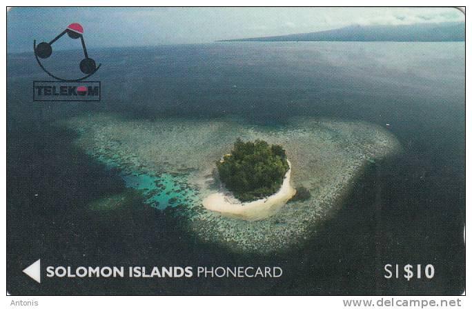 SOLOMON ISL.(GPT) - Kasolo Island(Kennedy Island), CN : 01SIC, First Issue $10, Used - Isole Salomon