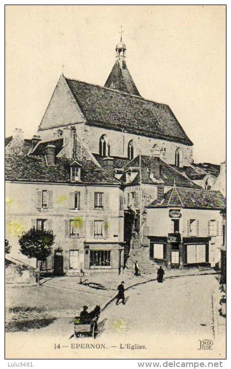 CPA - EPERNON (36) - Le Quartier De L'Eglise - Epernon