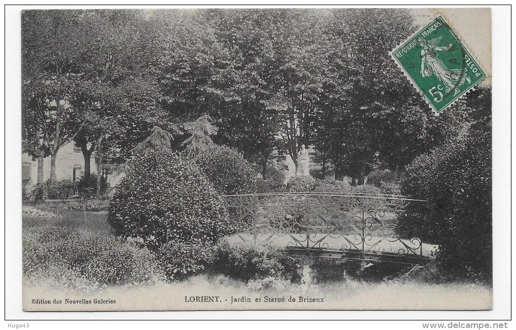 (RECTO / VERSO) LORIENT - JARDIN ET STATUE DE BRIZEUX - Lorient