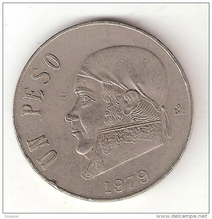 Mexico 1  Peso  1979 Thin Date  Km  460  Vf+ - Mexico