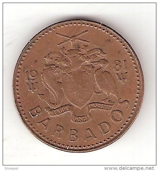 Barbados 1 Cent 1981  Km 10  Vf+ - Barbades