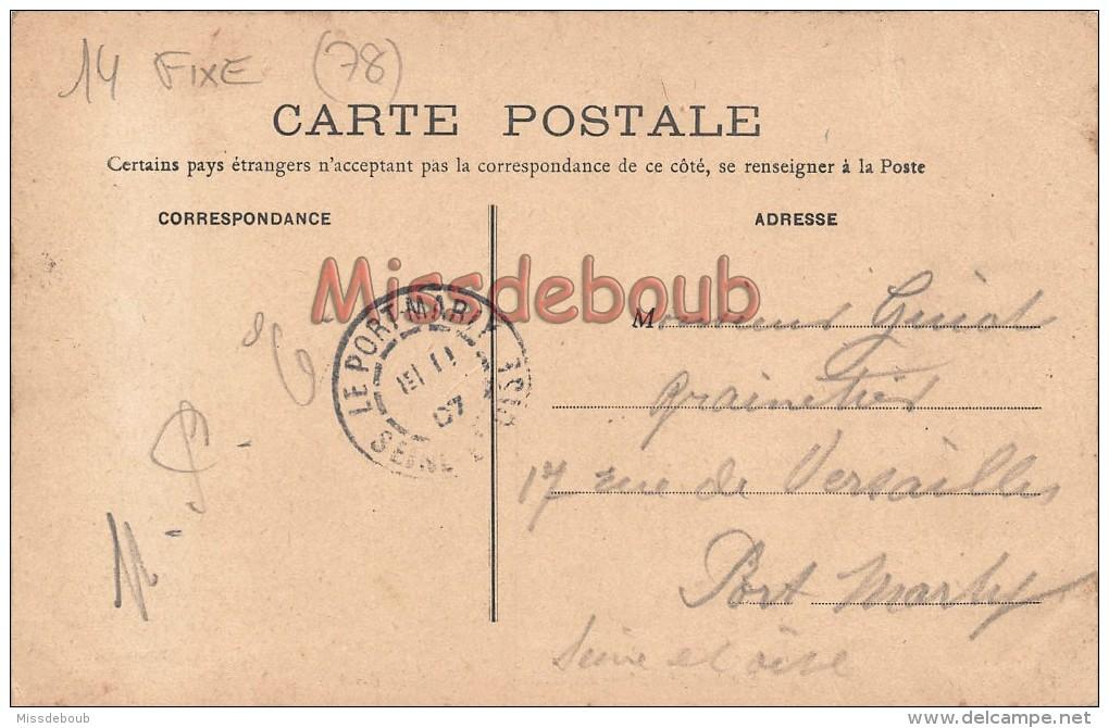 78 - MAURECOURT - La Vierge Et La Rue De Paris - écrite 1907 - 2 Scans - Maurecourt