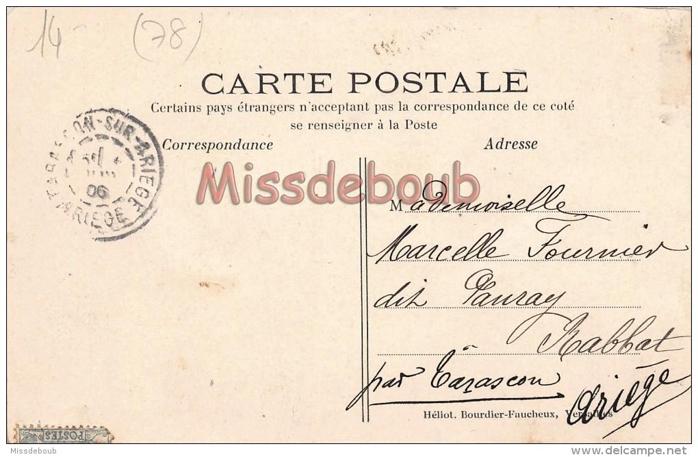 78 - VAUX  - Le Bac Et Le Port Vedère - écrite 1906   - 2 Scans - Vaux De Cernay