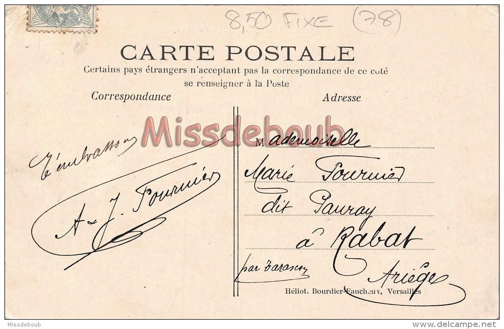 78 - VAUX  - La GARE - écrite 1906  - 2 Scans - Vaux De Cernay