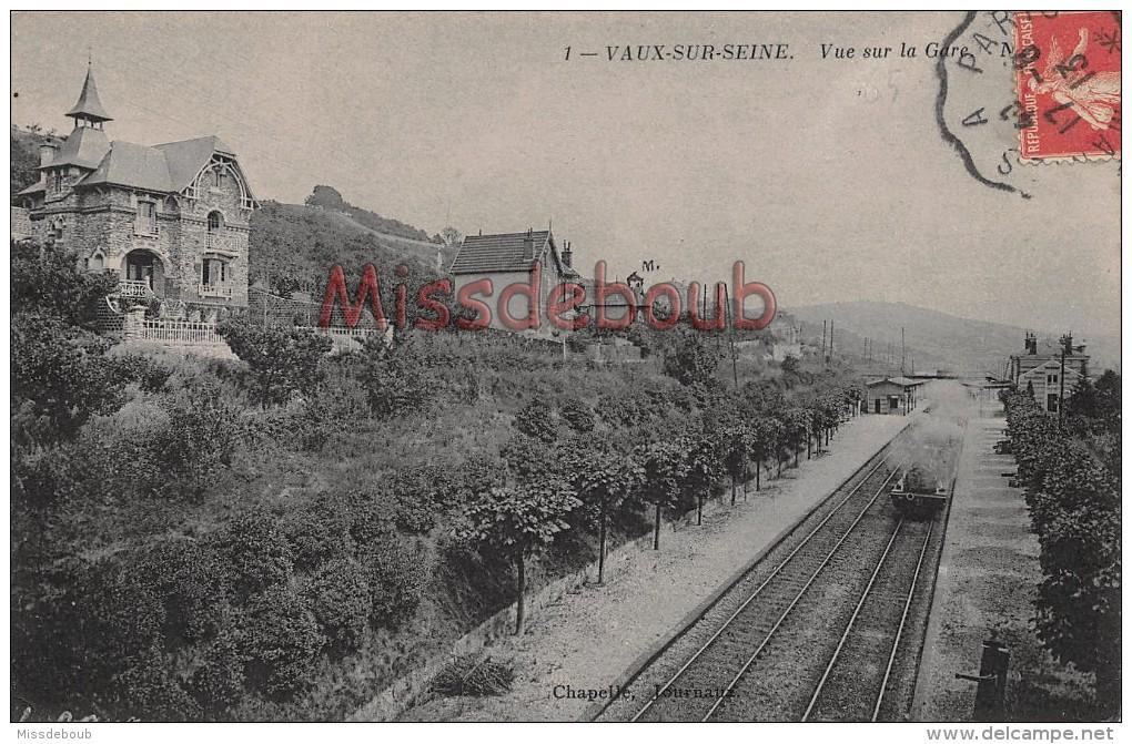 78 - VAUX Sur SEINE  - Vue Sur La Gare - écrite 19013 - 2 Scans - Vaux De Cernay