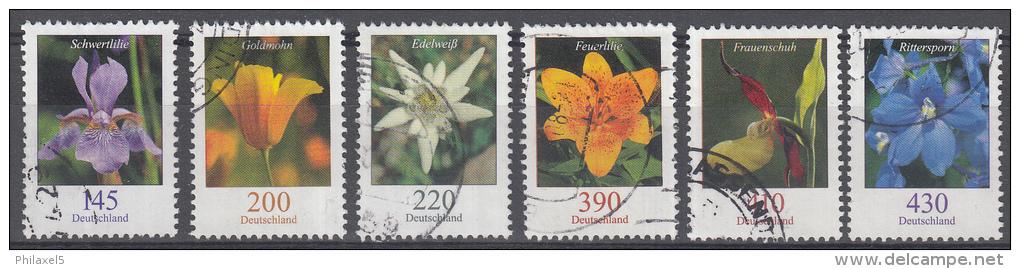 Duitsland - Freimarken: Blumen - Gebruikt/gebraucht/used - Michel 2435/2507/2530/2534/2568/ 2768 - Gebruikt