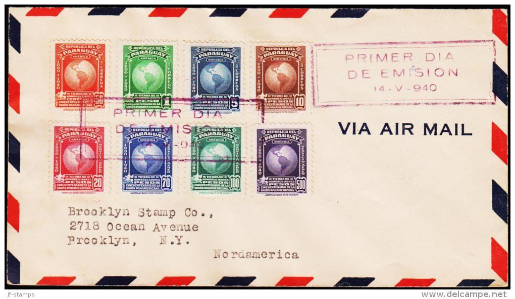 1940. PAN AMERICAN UNION. 8 EX. FIRST DAY 14-V-1940.  (Michel: 508-515) - JF108845 - Briefmarken