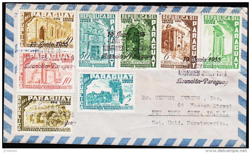 1955. RODRIGUEZ. AIR MAIL 8 EX. FIRST DAY 19 JUNIO 1955.  (Michel: 737-744) - JF108851 - Briefmarken