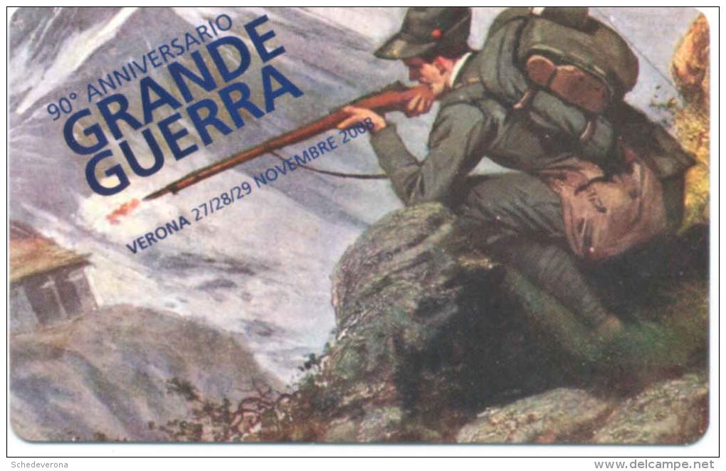 GRANDE GUERRA ANNIVERSARIO 111 VERONAFIL  SCHEDA TELEFONICA TELECOM 2487 - Pubbliche Speciali O Commemorative