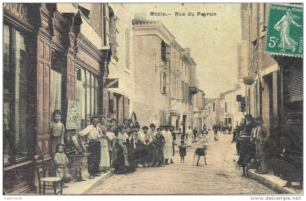 47 - MÉZIN - Lot-et-Garonne - Rue Du Peyron - France