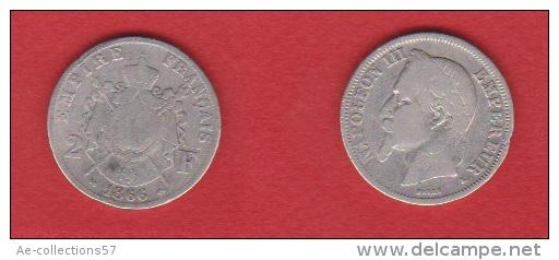 NAPOLEON III //  2 FRANCS 1866 K  //  ETAT  B+  //  RARE - I. 2 Franchi