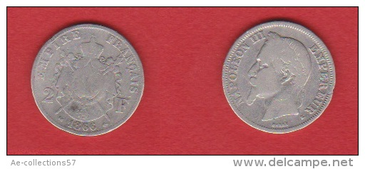 NAPOLEON III //  2 FRANCS 1866 K  //  ETAT  B+  //  RARE - Frankreich