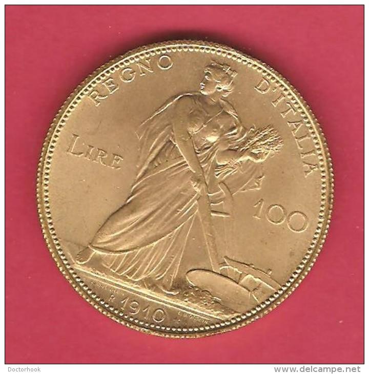 ITALY   100 LIRE   1910 BRONZE OFFICIAL RESTRIKE - 1861-1946 : Kingdom