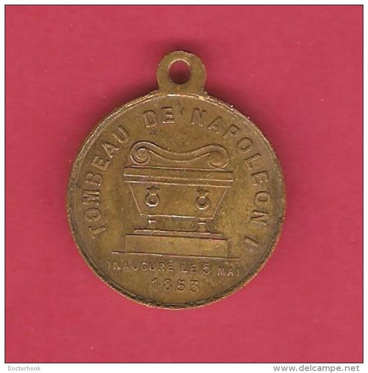 FRANCE   1853 BRONZE MEDAL DEDICATION OF NAPOLEON I  TOMB - France