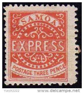 Samoa 1877 Y&T 2, 3 P Rouge. Neuf Sans Gomme. Cote 70 € - Samoa