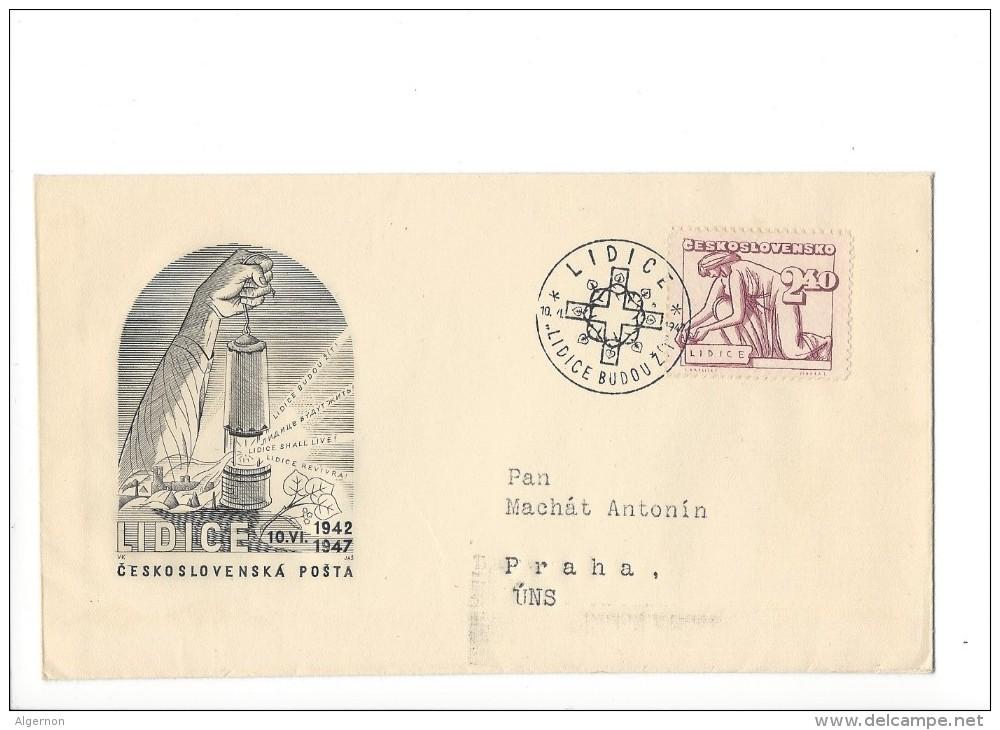 11388 -  Ceskoslovenska Posta Lidice Budouz 10.06.1942-1947 JEWISH HOLOCAUST - FDC