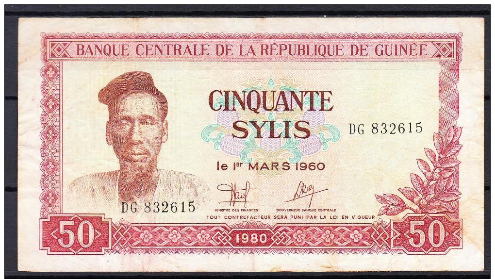 GUINEA 1960  50 SYLIS . MBC. VERY FINE. PICK Nº 25 VER FOTO.B195 - Guinea