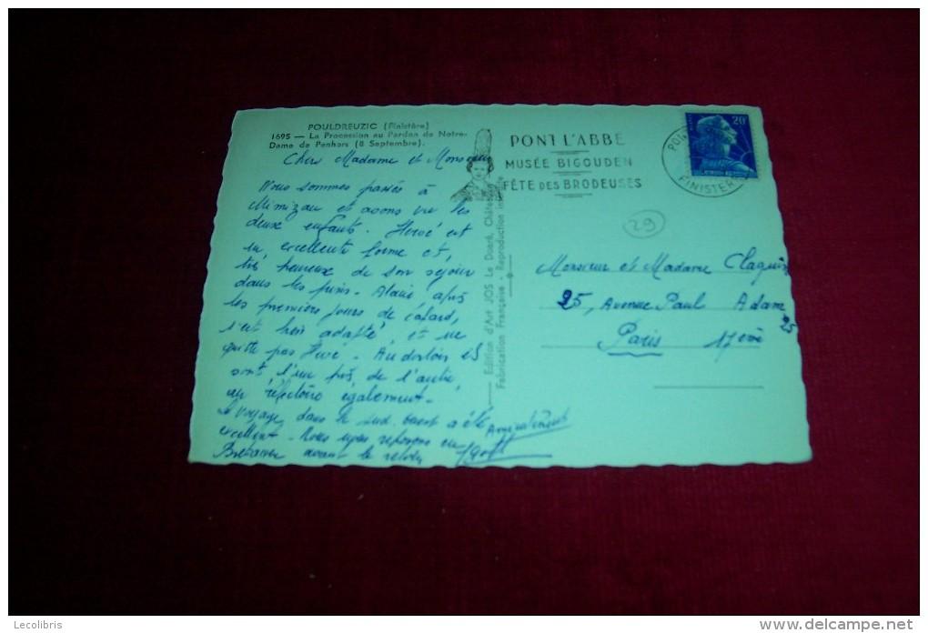 POULDREUZIC  ° LA PROCESSION AU PARDON DE  NOTRE DAME DE PENHORS  LE 15 07 1959 - France