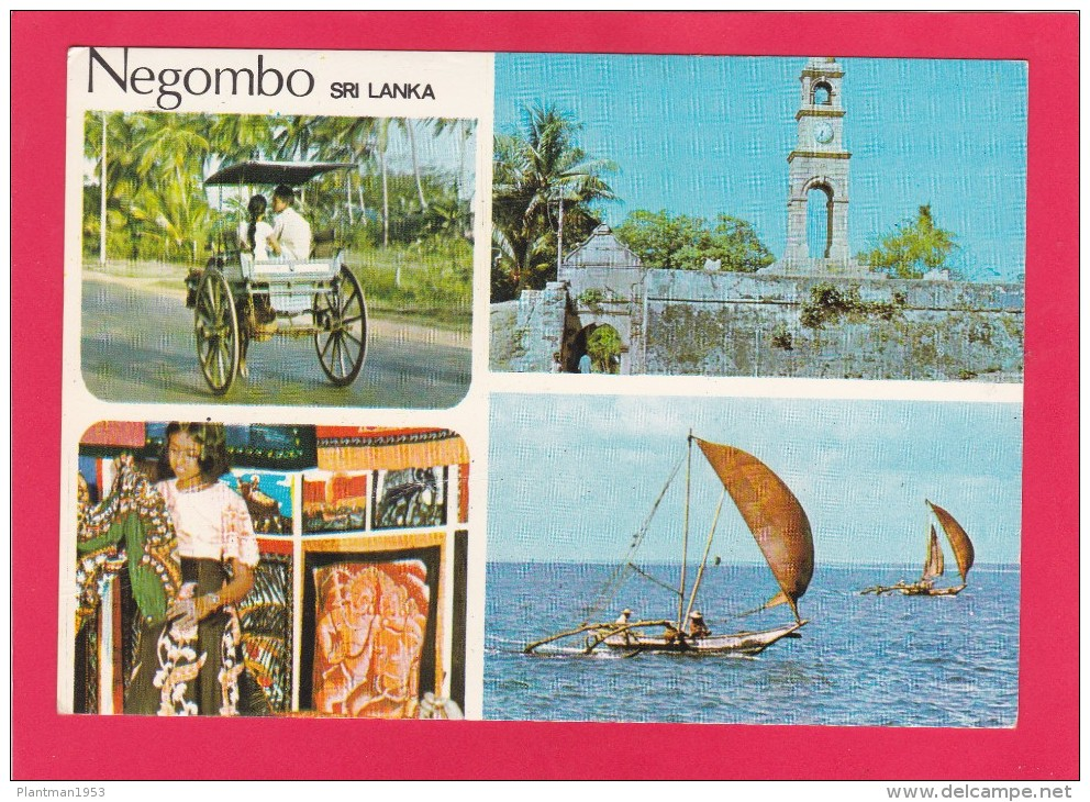 Multi View Of Negombo, Sri Lanka, Posted With Stamp, B18. - Sri Lanka (Ceylon)